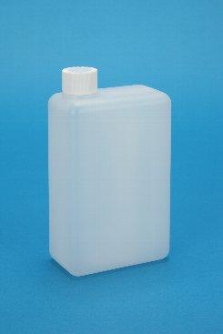 プラスチック容器:1L角缶 中栓・CAP付