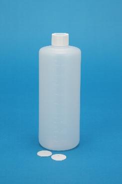 プラスチック容器:1L丸メモリ付 CAP・ガス抜きP付