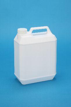 プラスチック容器:新4L手付缶 乳白 ガス抜き・CAP付