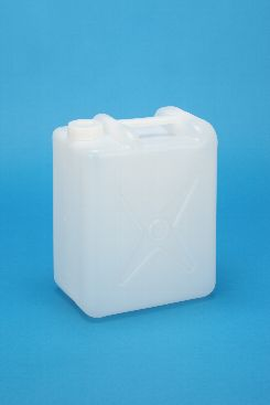 プラスチック容器:5L偏平缶N 中栓・CAP付