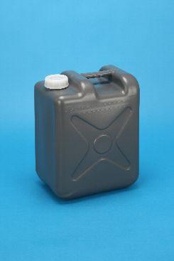 プラスチック容器:10L偏平缶G 中栓・CAP付