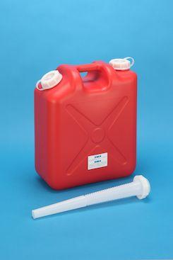 プラスチック容器:新20L ノズル付 赤