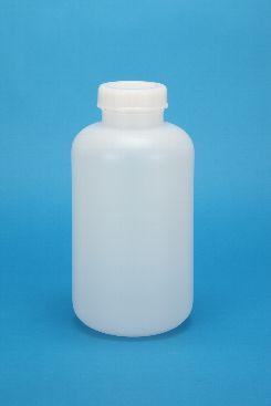 プラスチック容器:5L広口規格瓶 中栓・CAP付